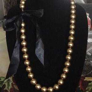 Gorgeous gold bead necklace